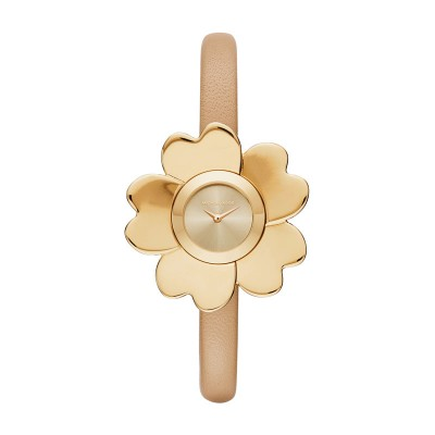 33Mm Mini Cinthia Gold Tone And Embossed Leather Michael Kors White Leather Stra