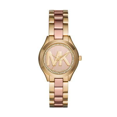 Elena All Rose Tone Stainless Heavy Link Michael Kors Watch