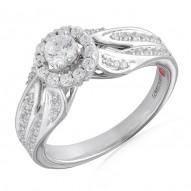 Round Diamond Modern Halo Engagement Ring