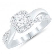 Princess Split shank Engagment Ring