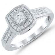 PrincessCut Engagement Ring