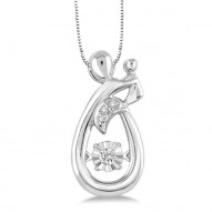 Dazzling Diamonds Mother and Child Pendant