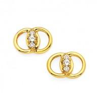 Diamond Marriage Symbol YG Earrings