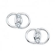 Diamond Marriage Symbol WG Earrings