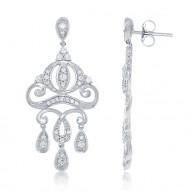 Cinderella Carriage Chandelier Diamond Earrings