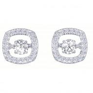 Dazzling Diamonds Square Earrings