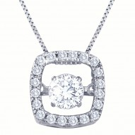 Dazzling Diamonds Square Pendant