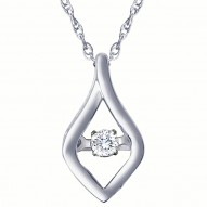 Dazzling Diamonds Free Form Pendant