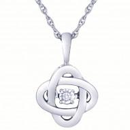 Dazzling Diamonds Love Knot Pendant