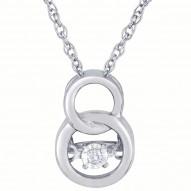 Dazzling Diamonds Interlocking Rings Pendant