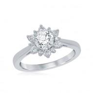 Elsa Snowflake Bridal Ring