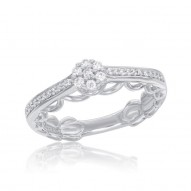 Cinderella Promise Ring With Dress Silhouette