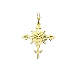 Lithuanian Cross And Chain 14K Yg Birdie R. Levine Design