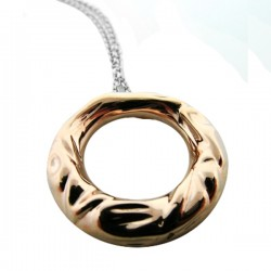 Love Life Pendant & Chain 14K Rg - Designed By Birdie R. Levine - A Donation Of