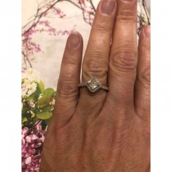 Halo Forevermark Fire Cusion Engagement Ring