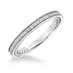 Keira 14K White Gold WEDDING BAND