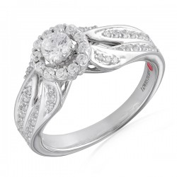 Round Diamond Modern Halo Engagement Ring