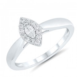 Marquise Diamond Halo