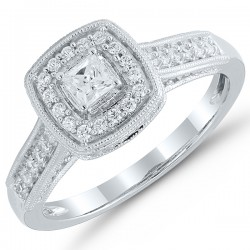 PrincessCut Engagement Ring