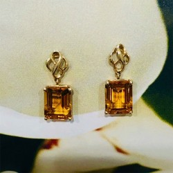 Birdie Levine Creations Citrine Dangle Earrings
