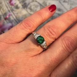 Birdie Levine Creations Tsavorite Garnet Ring