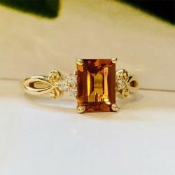 Birdie Levine Creations Citrine and Diamond Ring