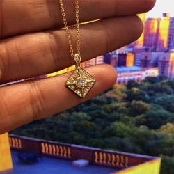 Art Deco Windrose Forevermark Diamond Pendant