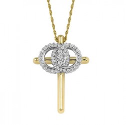 Christian Marriage Symbol YG Necklace