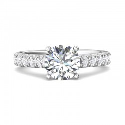 FlyerFit® 14K White Gold Encore Engagement Ring