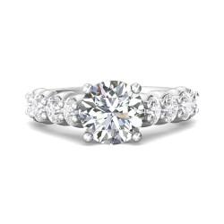 FlyerFit® 14K White Gold Encore Engagement Ring