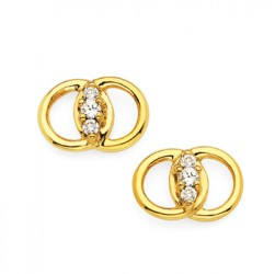 Diamond Marriage Symbol YG Earrings