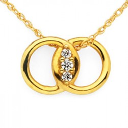 Diamond Marriage Symbol YG Pendant