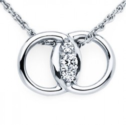 Diamond Marriage Symbol WG Pendant
