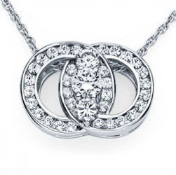 Diamond Marriage Symbol WG Pendant