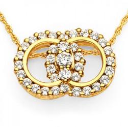 Diamond Marriage Symbol YG Pendant