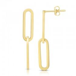 14K Paperclip Earring