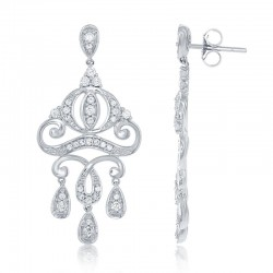Cinderella Carriage Chandelier Diamond Earrings