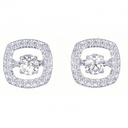 Dazzling Diamonds Square Earrings