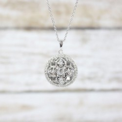 Elsie Locket Necklace (Silver)