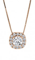 Black Label CushionDiamond Halo Pendant
