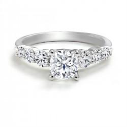 Black Label Round Diamond Engagement Ring