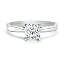 Black Label Ideal Square Cut Solitaire Ring