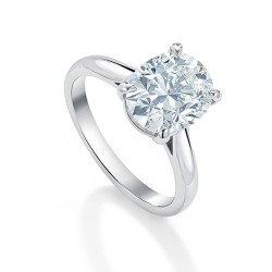 Black Label Oval Solitaire Ring