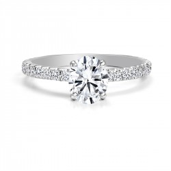 Black Label Oval Cut Down Pave Engagement Ring