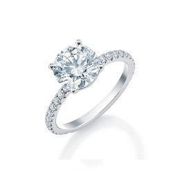 Black Label Round Pave Engagement Ring