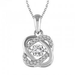 Dazzling Diamonds Knot Pendant