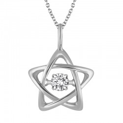 Dazzling Diamonds Star Pendant