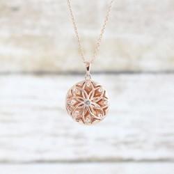 Helen Locket Necklace (Silver)