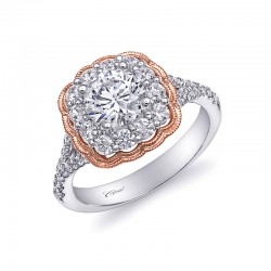 14K Two Tone Gold Engagement Ring