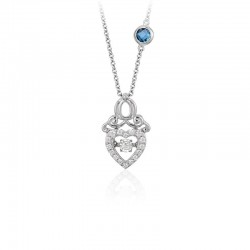 Cinderella Carriage Heartbeat Diamond Pendant